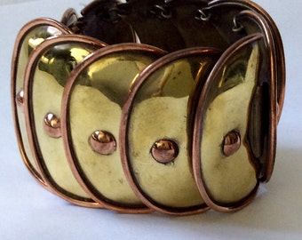 Hector Aguilar Design Mexican Mixed Metals Armadillo Bracelet by Casa Maya