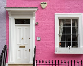 London Photography - Colourful Houses Print - Chelsea - Pink and Purple House