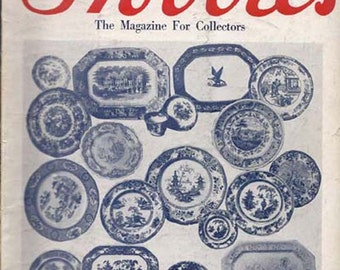 Vintage May 1959 HOBBIES Magazine - The Magazine for Collectors Featuring English Blue China