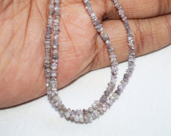 ON SALE 50% Pink Diamonds - Raw Uncut Diamond Beads - rough diamonds - 2mm - 4 Inches Strand