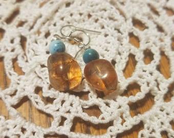 Beautiful tourmaline and Apatite earrings