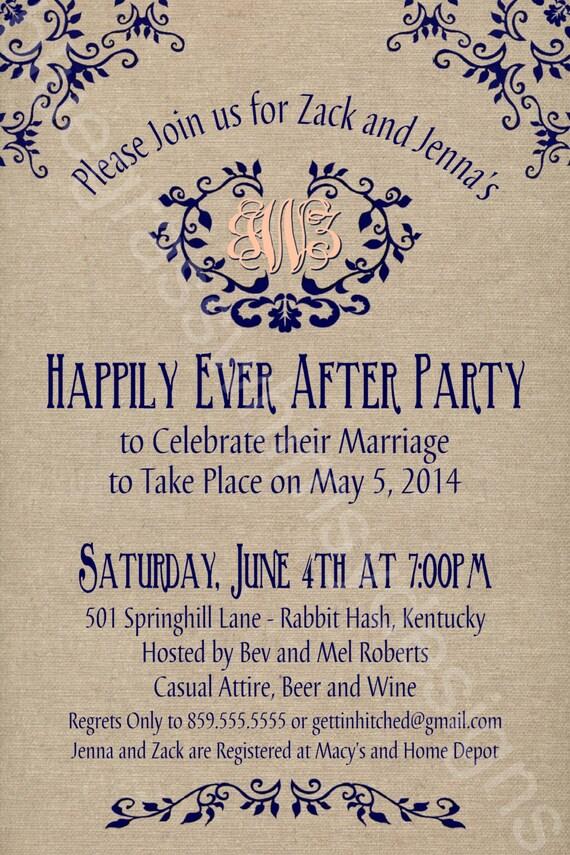 Rustic Burlap Linen Post Wedding or