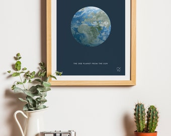 Earth, Planet, Space, minimalist  poster