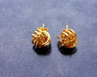 Lovely Pair of Vintage Estate 14K Yellow Gold Stick Earrings 2.23g E2012