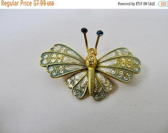ON SALE Vintage Spanish Enameled Butterfly Pin Item K # 993