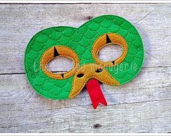 Snake Mask, Cobra Mask, Halloween Mask, Stocking Stuffer, Birthday Party Favors Easter Basket Pretend Play Creative Play Mask