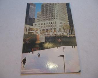 vintage Rockefeller Center Skating Rink New York NY color picture postcard unused