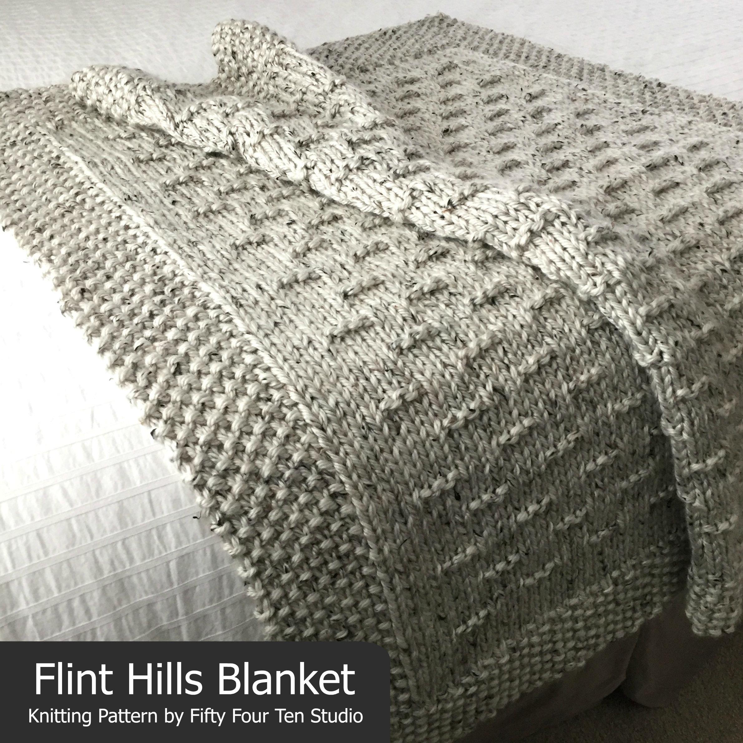 Blanket KNITTING PATTERN / Flint Hills / Throw / Afghan / Knit ...