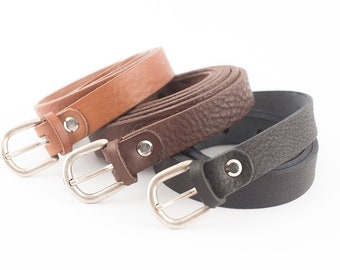 Leather belt made with excellent quality full grain leather - Handmade  - Black or Brown leather belt for man and women - By Bronkey