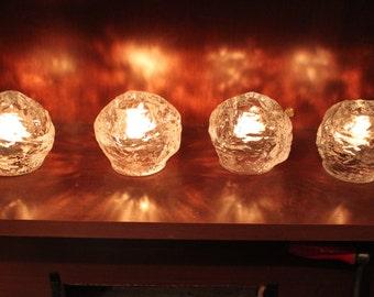 Vintage Kosta Boda, Snowball, Candle Holders, Large, Medium, Small
