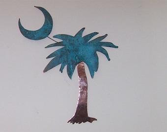 Palmetto Tree Copper Patina  Wall Art *****FREE SHIPPING