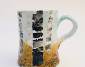 Handmade Mug- Silver Birch