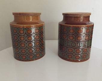 5 Vintage Hornsea Storage Jars