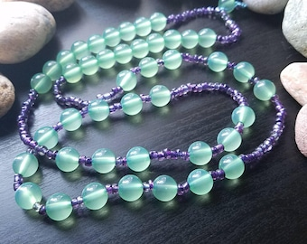 Green necklace, purple necklace, lucite necklace, colorful jewelry, bohemian necklace, boho jewelry, gift for her, gift for women, gypsy