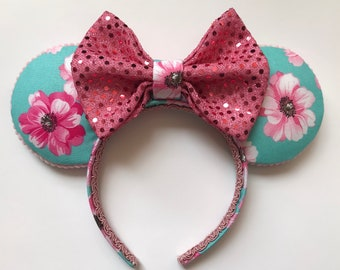 Handmade Floral Mouse Ears