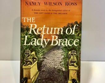 Vintage Nancy Wilson Ross book The Return of Lady Brace