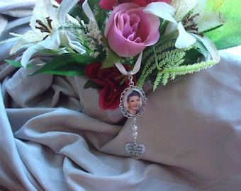Bridal Bouquet memory pendants  .Personalised. choice of colours.