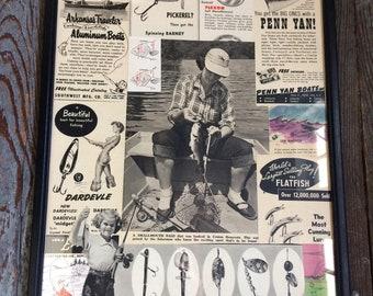 Vintage Fishing Collage #3