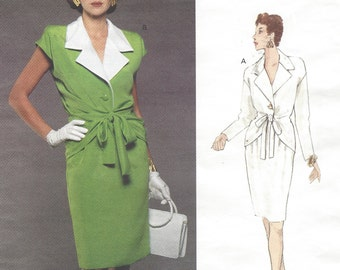 90s Givenchy Womens 40s Style Top & Blouse Vogue Sewing Pattern 1371 Size 8 10 Bust 31 1/2 to 32 1/2 Vogue Paris Original Patterns
