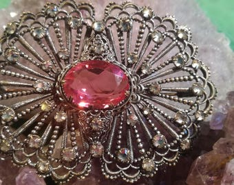 Brooches, brooches, vintage, antique, rhinestones