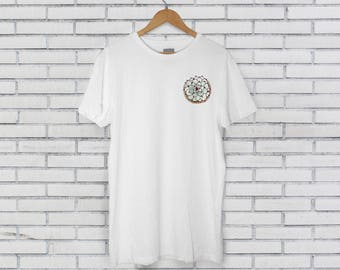 Succulent Above Flatlay White Tee Tshirt