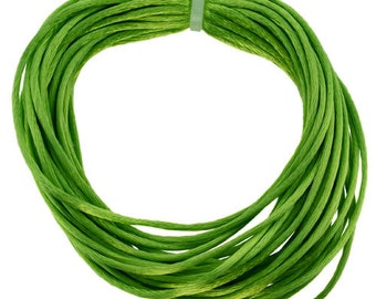 Rattail 1mm APPLE GREEN 10yd Coil  (CD8000)