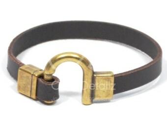 brown horseshoe bracelet, western jewelry, bronze gifts for him, equestrian jewelry, bronze jewelry, horseshoe jewelry, mens gifts