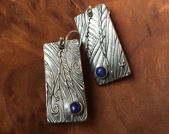 Celestial Swirl Lapis Earrings