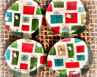 Presents Recycled Christmas Glass Bubble Magnets-Limited Edition! (Ready to Ship)