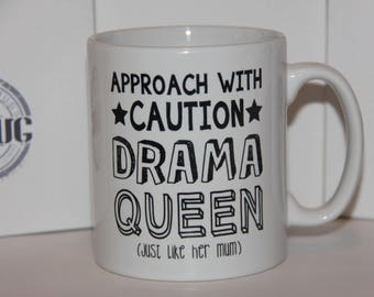 Shmug Personalised 'Approach with caution...' gift, printed mug/cup