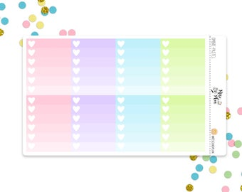 Planner Stickers- Pastel Ombre Checklists- pink, purple, blue, green