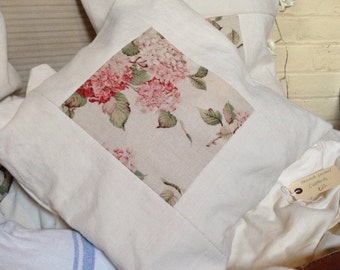 Antique French linen cushions