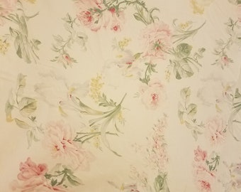 "Retired ""Therese"" Ralph Lauren rose/floral pillowcases shabby/cottage chic French country bedding free shipping U.S only"