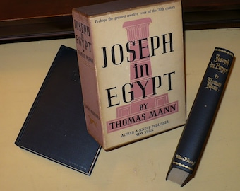 Thomas Mann, Joseph in Egypt, Set of Two, Nobel Prize, Books Movies Music, Books, Literature Fiction, Slipcase, Historical Novel,