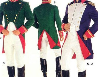 Burda  Sewing Pattern 2471-Napoleon Costume-Hat Pattern Included Size 36-48