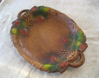 Grapevine Faux Wood Plate