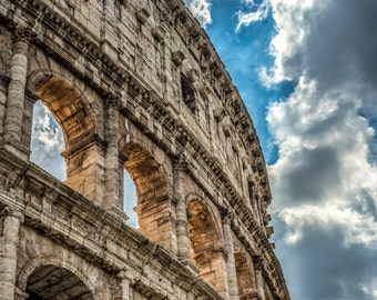 Clouds Over the Roman Colosseum