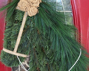 Horse Wreath with Burlap