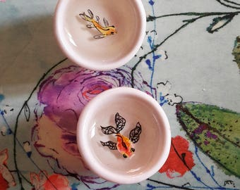 3D Fish In A Mini Bowl| Fish Acrylic Painting In Resin Ring| Miniature Koi Fish Painting