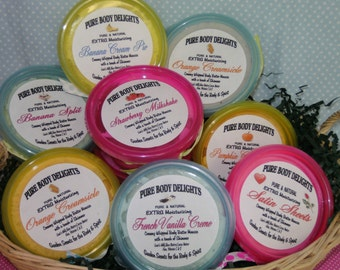 Sweet Pink Cupcake---Whipped Body Butter Mousse Delights---Silky Smooth--BUY 2 get 1 FREE---With a touch of glimmer shimmer