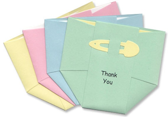 Baby thank you cards pastel diapers thank you notes for like this item thecheapjerseys Images