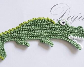 Crochet applique, Crochet Crocodile