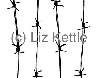 Barbed Wire  - Thermofax Screen for Instant Screen Printing