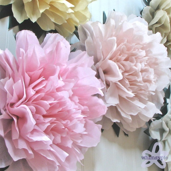 Huge tissue paper flowers images flower decoration ideas items similar to lucky peony 5 giant tissue paper flowers wedding 5 giant tissue paper flowers mightylinksfo
