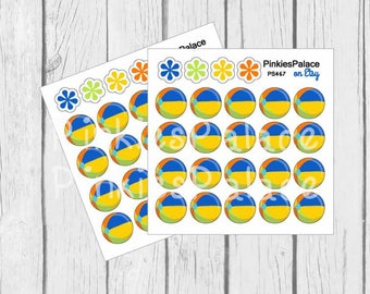 Swimming Pool Ball Stickers Beach Ball Stickers Summer Stickers Pool Stickers Small Planner Stickers - 20 stickers PS467