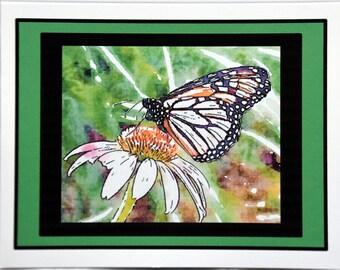 Watercolor Butterflies Fluttering Around Sweetness - Notecards