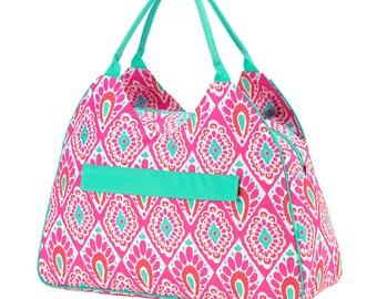 Personalized Beachy Keen Beach Bag, Monogrammed, Tote Bag, Diaper Bag, Gym Bag, Personalized Gift
