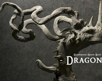 Dragon bust - Limited Edition - Handmade Resin Bust - Size : 9 in