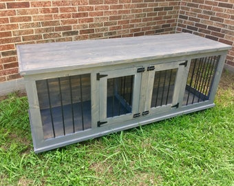 Wooden Double Dog Kennel - DIY Plans - Medium size