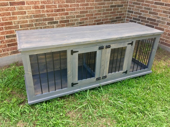 Do It Yourself Home Design: Wooden Double Dog Kennel DIY Plans Medium Size